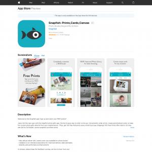 Snapfish (iPhone 10.0+, iPad 10.0+) IE - Non incent