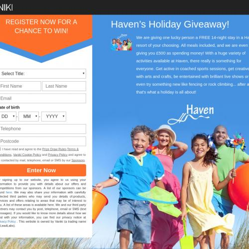 Haven Holiday Getaway - Sweepstakes - UK