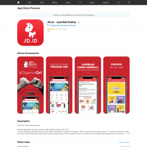 JD.id - Jual Beli Online (iPhone 9.0+, iPad 9.0+) ID - Non incent