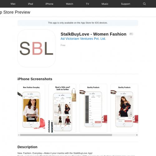 IN - StalkBuyLove - Women Fashion - iOS