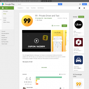 99 Taxi* (Android) BR - Non incent