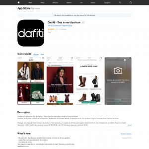 Dafiti - Sua smartfashionCPA (iPhone 9.0+, iPad 9.0+) BR - Non incent