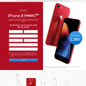 iPhone 8 product RED - CC submit - FR - SWEEP - Responsive