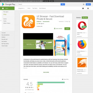 UC Browser - Fast Download Private & Secure (Android) IN - Incent [PAUSE IN 24H]