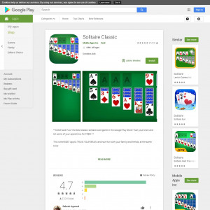 Solitaire Classic (API) (Android 4.1+) US - Incent