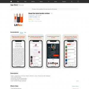 Read books online  (iPhone 9.0+, iPad 9.0+) RU - Non incent