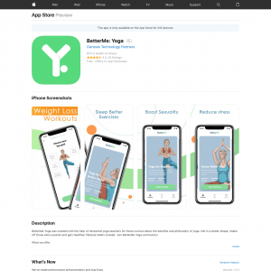 BetterMe: Yoga (iPhone 11.0+, iPad 11.0+) GB - Non incent